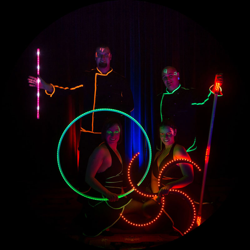 Freaks on Fire - Team im Schwarzlicht