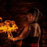 Louise Hampe - Feuershow