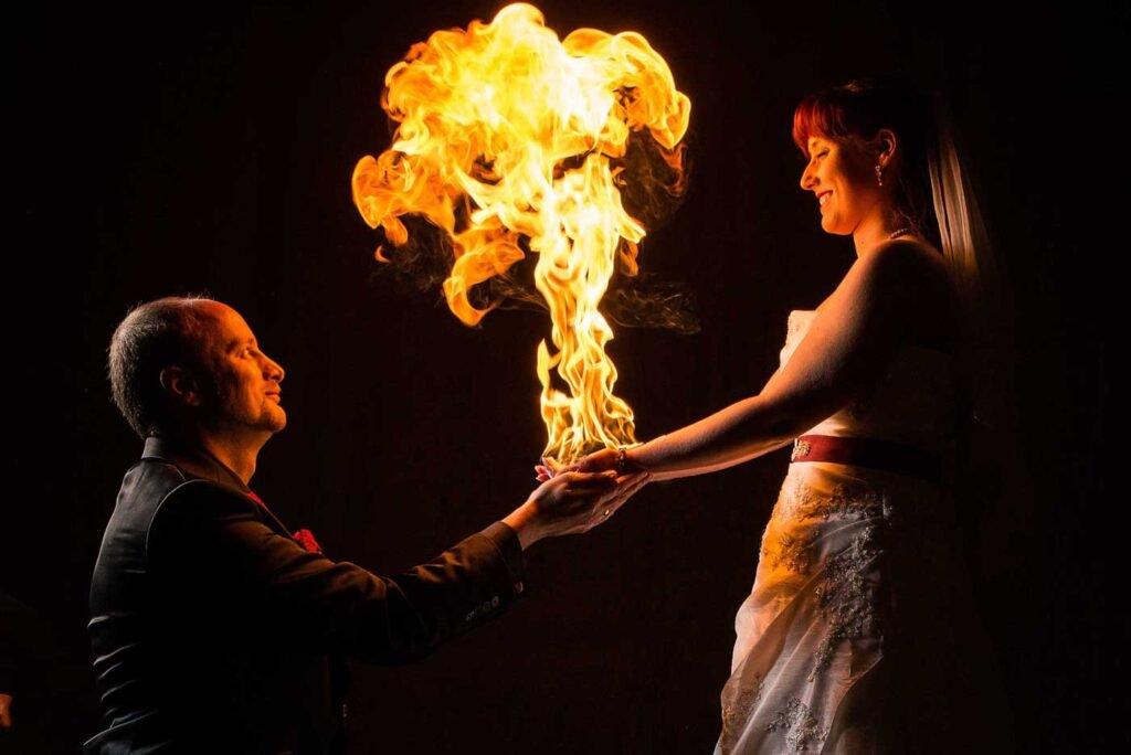 Feuershow-Hochzeit