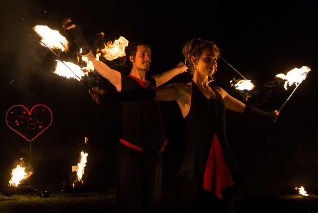 Partner-Feuershow - Hochzeitsshow