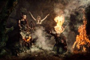 Feuerfotografie - Fantasy Feuerkünstler Feuerspucker Feuerschlucker Hochzeitsfeuershow buchen