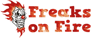 Freaks on Fire - Logo Feuerkünstler Feuerspucker Feuerschlucker Hochzeitsfeuershow buchen