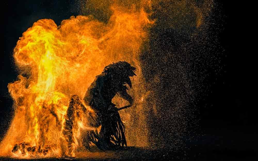 fire artist, fire player, fire magic, fire show, fire eaters, fire show wedding in Leipzig