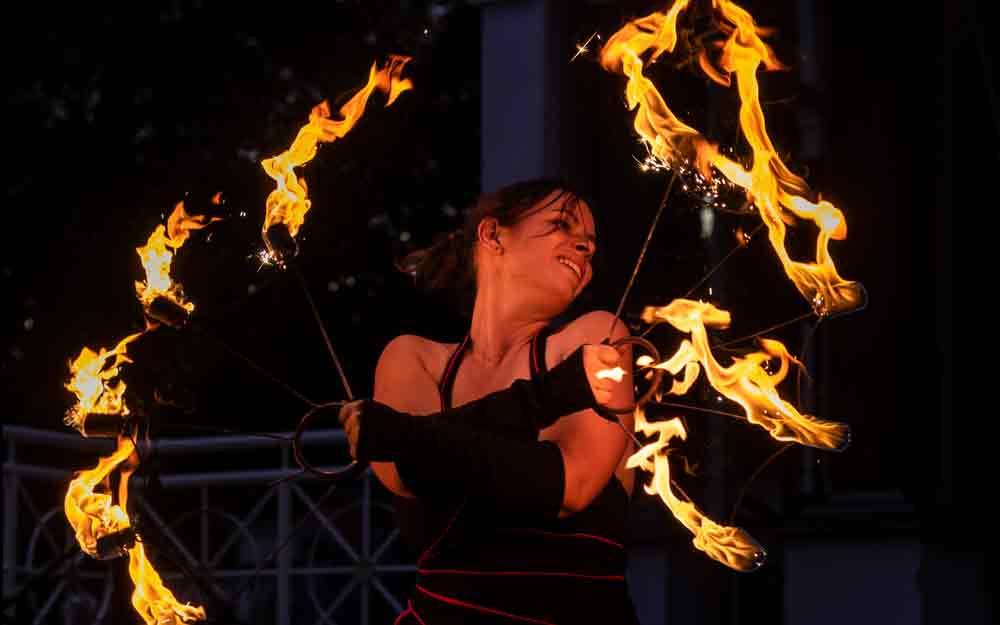 Feuershow Hochzeit Feuerkünstler
