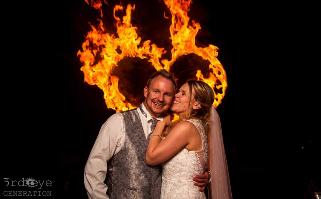 Fire show for wedding