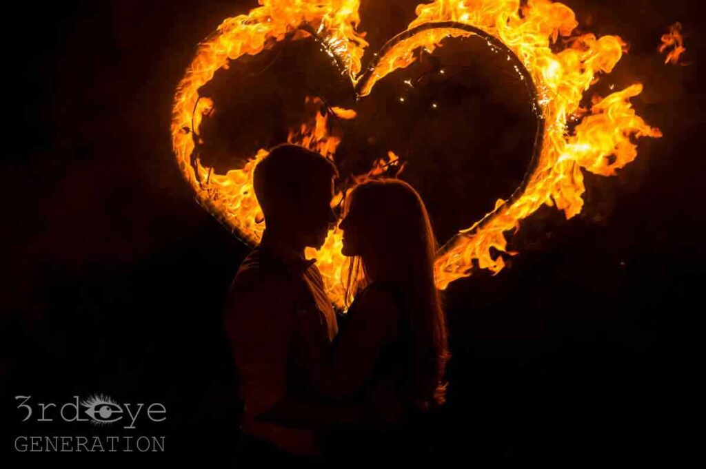 Fire show in Leipzig for wedding ceremony