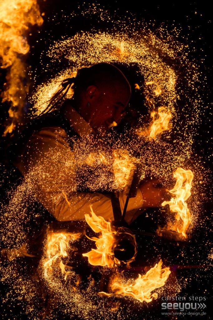 Feuershow Flammeneffekt für Hochzeitsfeier