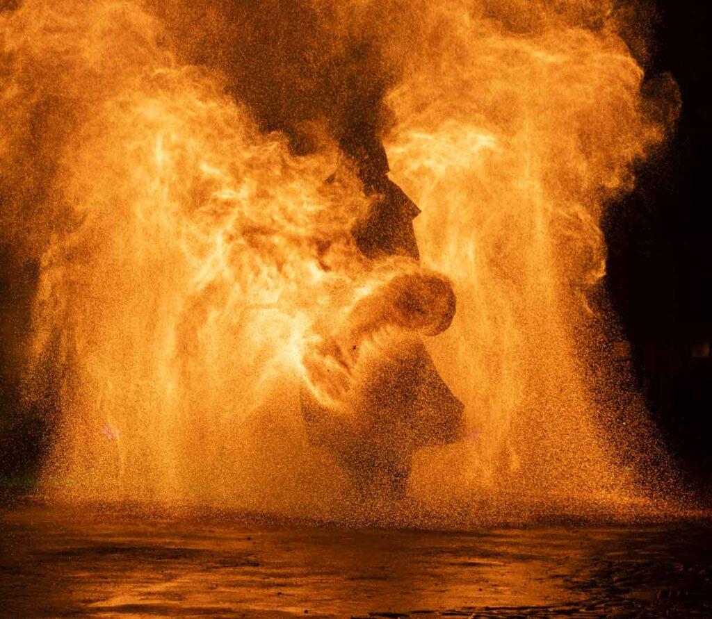 Pyrotechnik, Feuerwerk, Dresden, Feuerkünstler